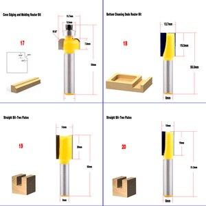 Image 5 - 1pc 8mm haste de madeira roteador bit fresa fresa reta limpeza nivelada guarnição canto redondo caixa cove bits ferramentas moagem cutte chwjw