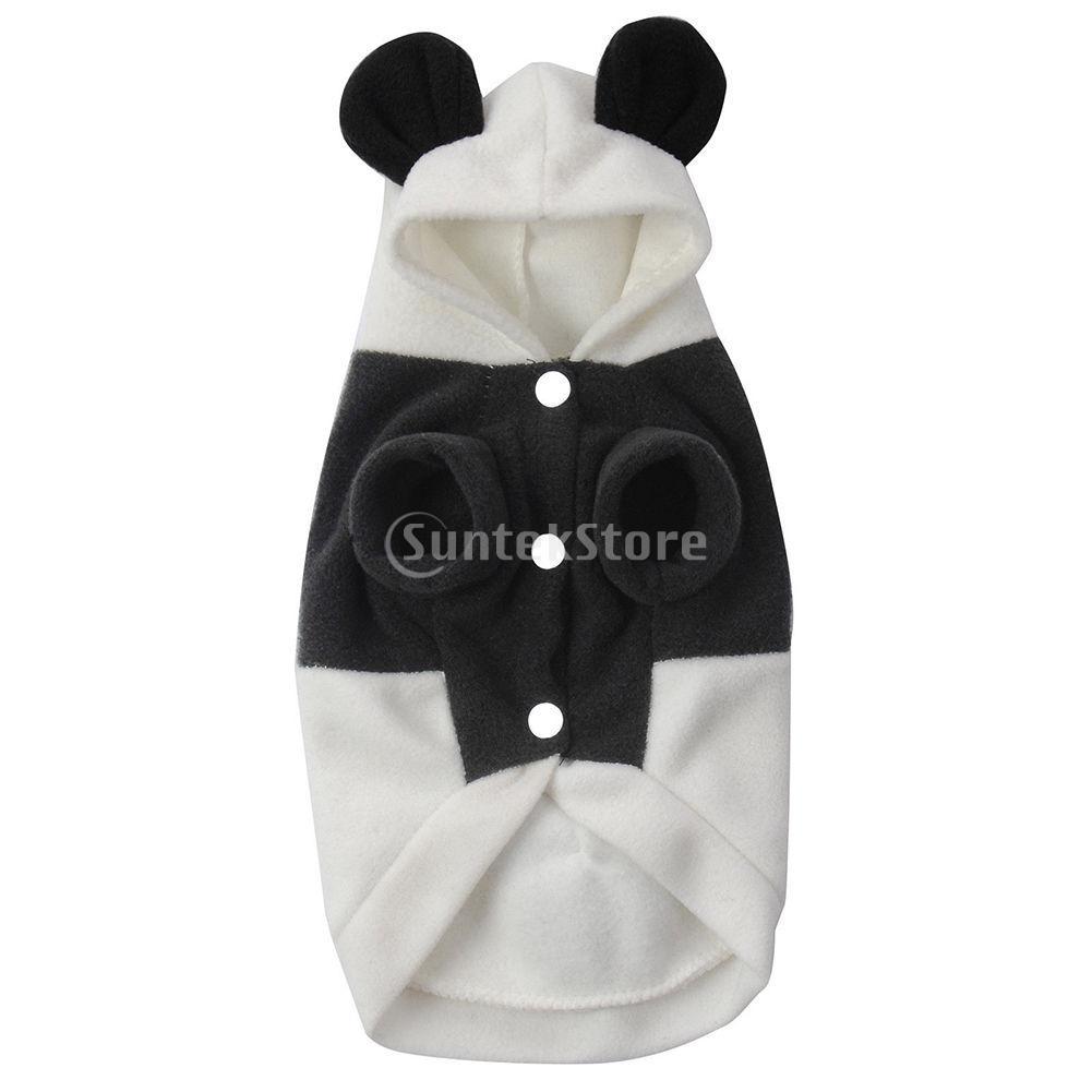 Pet Dog Jumpsuit Winter Panda Hoodie Puppy Cat Jumper Warm Clothes Outfit Costume Size XS S M L XL