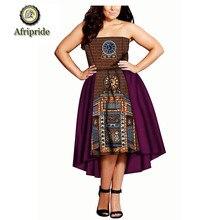 2019 african formal party dress dashiki bazin riche  AFRIPRIDE ankara printwomen 100% cotton bar S1825001
