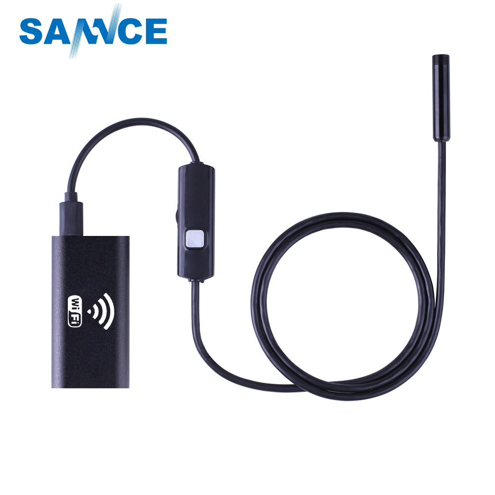 8mm Lens Wifi Android Iphone Endoscope Camera 1M 2M 3.5M 5M Waterproof Snake Tube Pipe Borescope 720P Iphone Camera Endoscope 2m 2 0mp 8mm led android endoscope waterproof borescope tube video camera