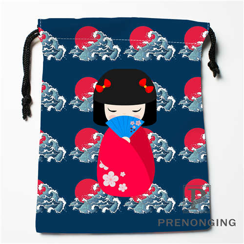 Custom Japanese Culture Drawstring Bags Printing Fashion Travel Storage Mini Pouch Swim Hiking Toy Bag Size 18x22cm 171203-04-08