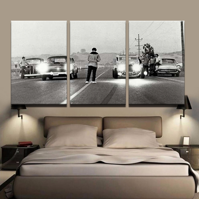 Modern HD Printed Painting Canvas Home Decor 3 Panels Movie Once Upon A Time In America Poster Frame Car Modular Pictures