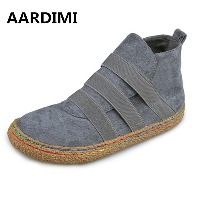 AARDIMI Plus Size 35-42 Autumn Winter Women Ankle Boots Fashion Solid Lace Up Casual Shoes Chelsea Boots Woman Martin Boots цены онлайн