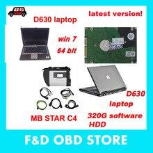 V2019.12 D-T-S MB Star SD Подключение Compact 4 с 320G HDD программное обеспечение полная версия mb star c4 с ноутбуком D630 DHL бесплатно
