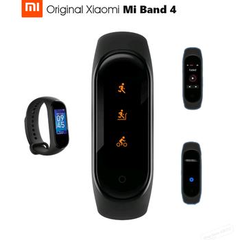 Oryginalny Xiao mi mi zespół 4 inteligentny Bluetooth 5 0 nadgarstek bransoletka fitness AMOLED kolorowy ekran dotykowy muzyka AI tętno tanie i dobre opinie XIAOMI Passometer Fitness tracker Uśpienia tracker Wiadomość przypomnienie Przypomnienie połączeń Pilot zdalnego sterowania