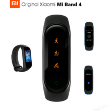 Xiaomi pulseira smartband mi band 4, original, bluetooth 5.0, tela amoled colorida, touch screen, medidor de batimentos cardíacos