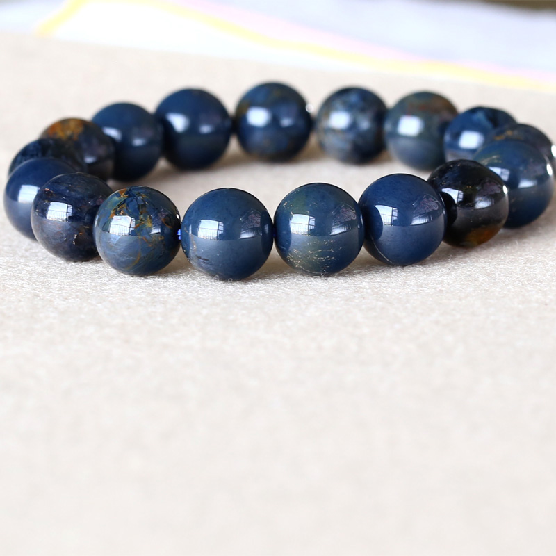 AAA High Quality Genuine Natural Gold Blue Pietersite Namibia Stretch Men's Bracelet Round Beads 12mm 05040 genuine natural blue gold pietersite namibia stretch men s bracelet round beads 10mm 05037