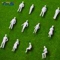 Modelo escala 1:50 figuras escala HO modelo humano modelo Arquitetônico miniatura branco ABS plástico povos