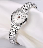 OTS Fashion Business Stainless Steel Strap Women Quartz Watches horloges vrouwen Brand Ladies Casual Waterproof Gifts Wristwatch