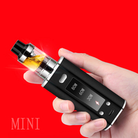 80W Huge Vapor Electronic Cigarette 2000Ah Thick Vape Mod Box Vaporizer Hookah Vaper Shisha Pen E Cig Smoke LED Smoking Kit