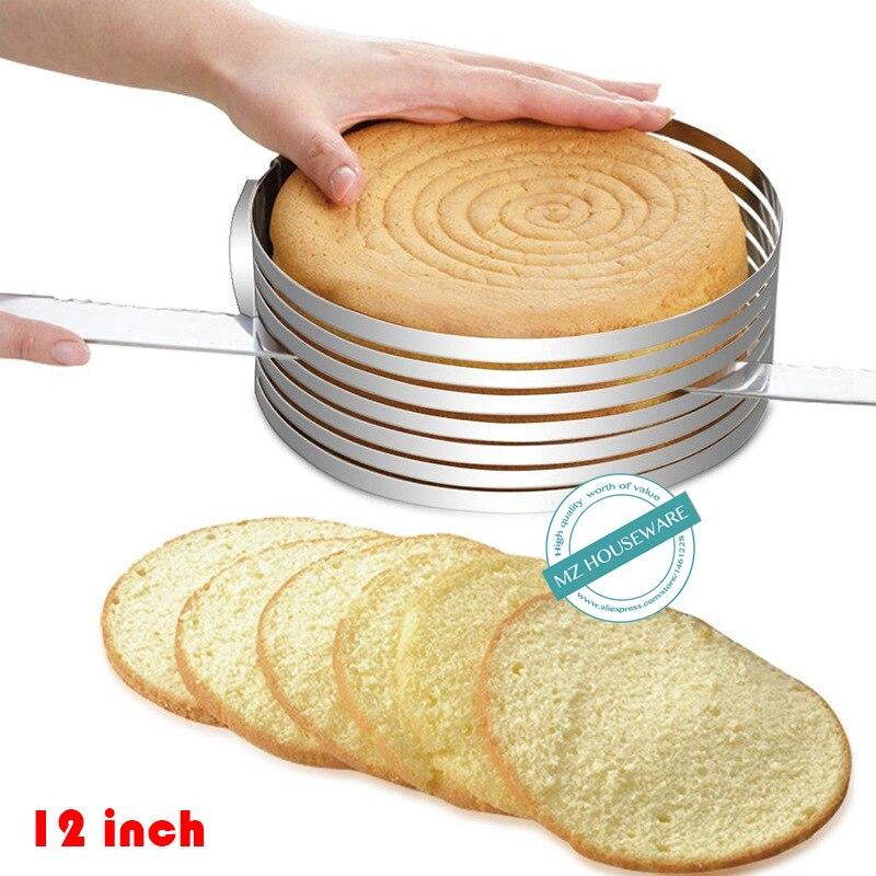 Kuřecí 12-palcová pěna na krájení pěnového dortu Mousse s nastavitelnou pekařskou plísní