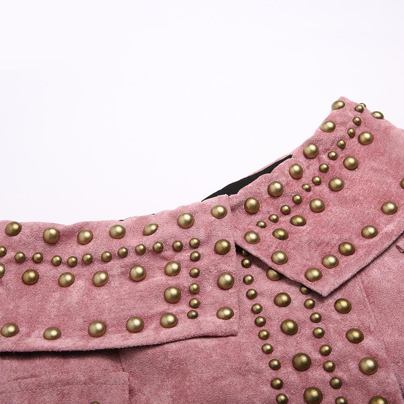 Jupes Look Jupe Daim Nouveau Street Nouveauté High Rivet ligne Femmes Noir rose Punk Couleurs Conception 2018 Fashion Exquis Sexy 2 Style A SUAUwZqx