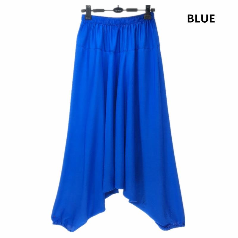 Image 2 - 2019 Spring women Casual Loose  Harem Pants Solid Elastic Waist Summer Wide Leg Pants Plus Size Cotton linen Trousers M 4XL 5XL-in Pants & Capris from Women's Clothing