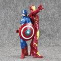 """Anime Marvel Superhero Avengers Ironman Capitão América Ação PVC Figuras Coleção Modelo Brinquedos Para Crianças de 9 """"23 cm Frete grátis"""