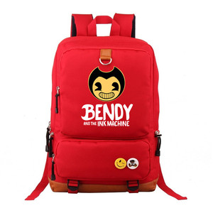 Image 5 - Bendy and The Ink machine Backpack For Teenagers Students Schoolbag Boys Girls  Kids Backpacks Travel Book Bag Mochila Infantil