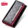 BVLRIGA Womens wallets and purses leather wallet dollar price famous brand designer luxury wallet long ladies clutch purse new