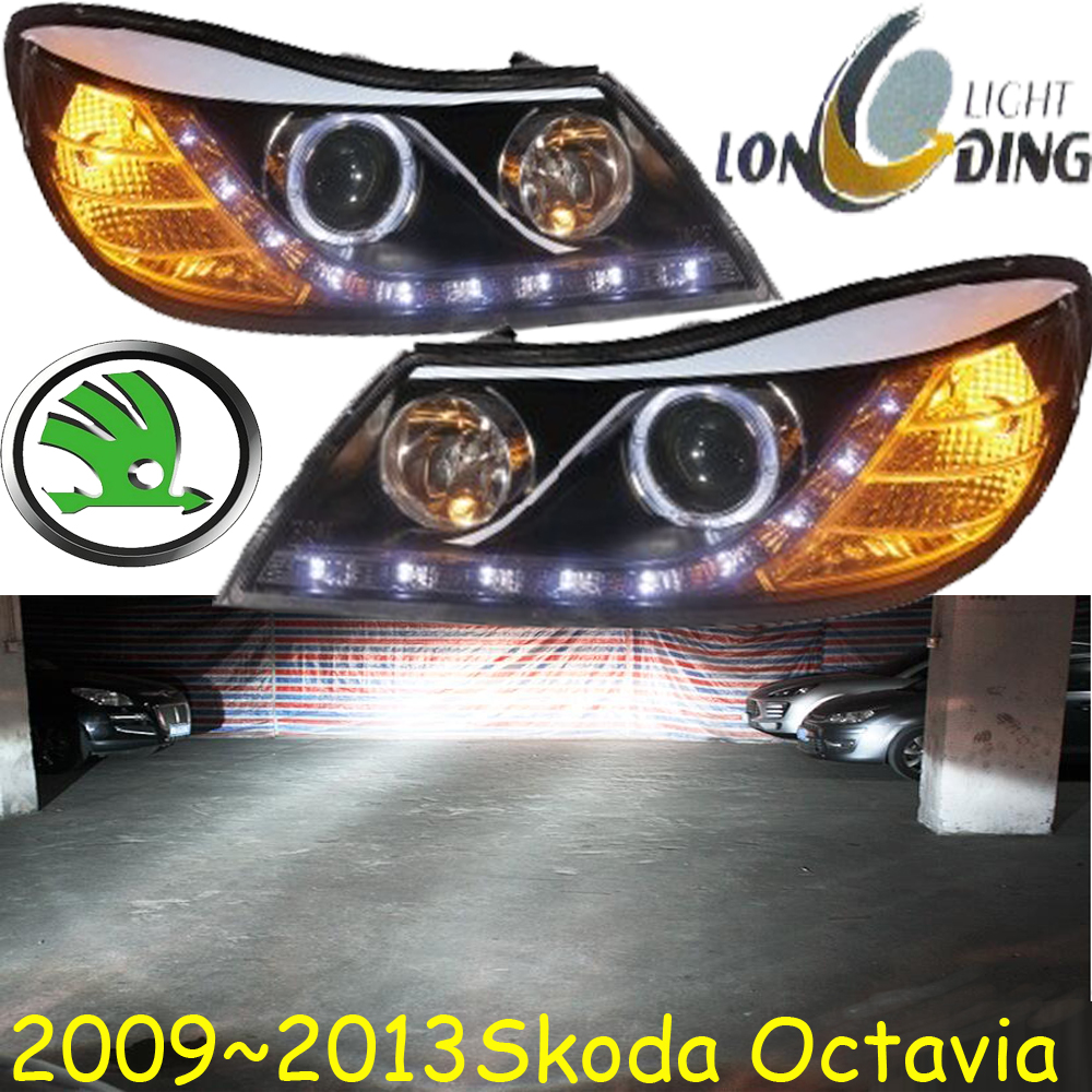 car-styling!Octavia headlight,2009~2012,Free ship!chrome,Octavia fog light,chrome,LED,Fabia,octavia,superb,rapid,yeti