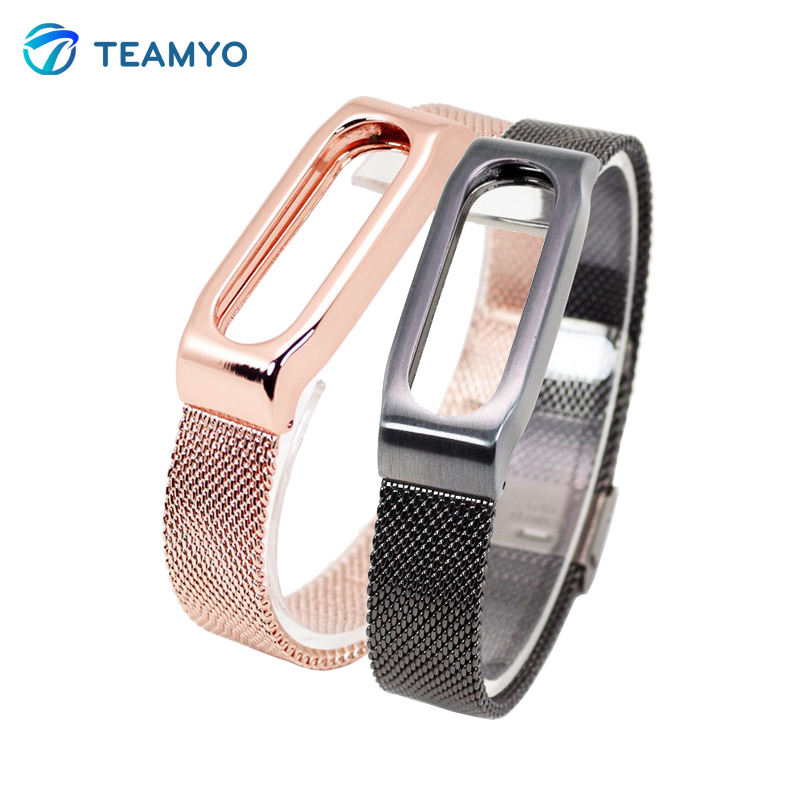 IN Stock Xiaomi Mi Band Bracelet MIBand 1S Metal Strap Wrist Blet For Mi Band 2 1S 1 Smart Miband Bracelet Pulseira Wrist Strap