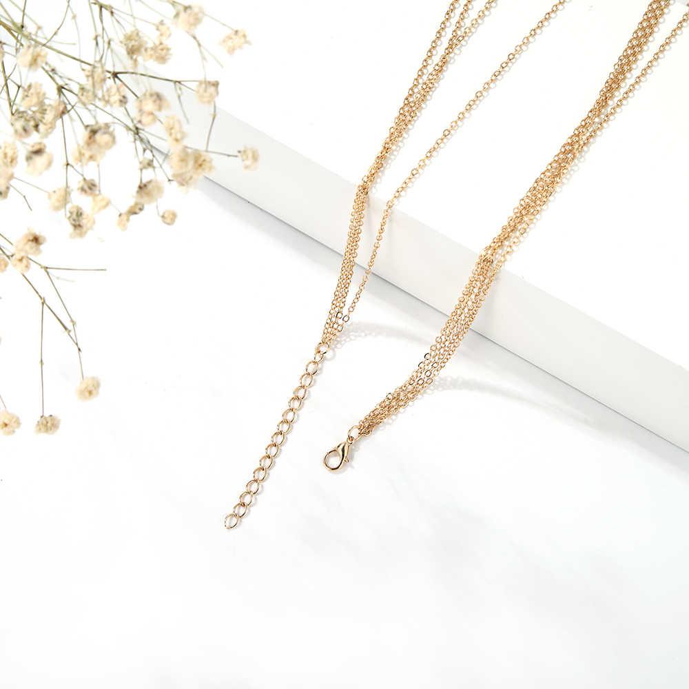 2019 ホット販売ネックレスレトロ多層ペンダント女性ネックレスゴールドフリンジチェーンネックレスビーチセクシーな宝石類のギフト