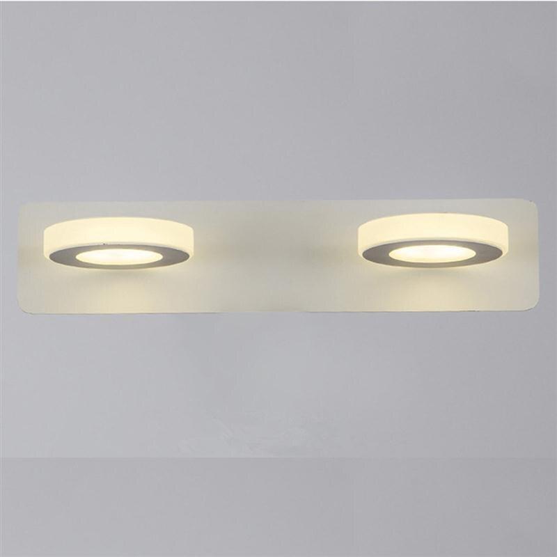 led 10 w rotondo acrilico bagno make up specchio applique da parete moden led bagno lampada