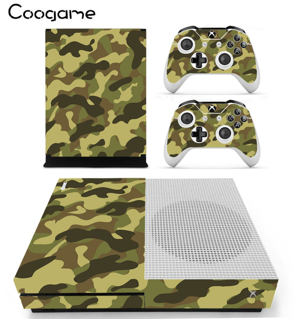 Hot Sale Organ Camo Conditions Skin For Microsoft Xbox One Slim Console Decal & 2 Controller Decals
