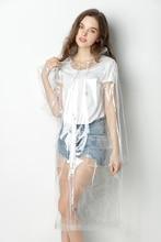 transparent raincoat Cloaks for women Men,Fashion EVA Waterproof Rain Poncho Coat Reusable with Drawstring Hood