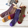 11 11 2016 New Autumn And Winter In Tube Women Socks Retro Leisure Series Lace Candy Color Cotton Ladies Girls Woman Socks