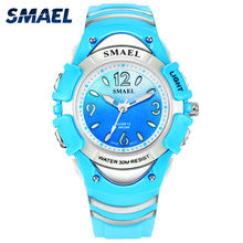 Girls Outdoor SMAEL LCD Digital Watches Shock Resistant Sport for Watches Alarm Clock 0616C Children 50M Waterproof Wristwatches(China)