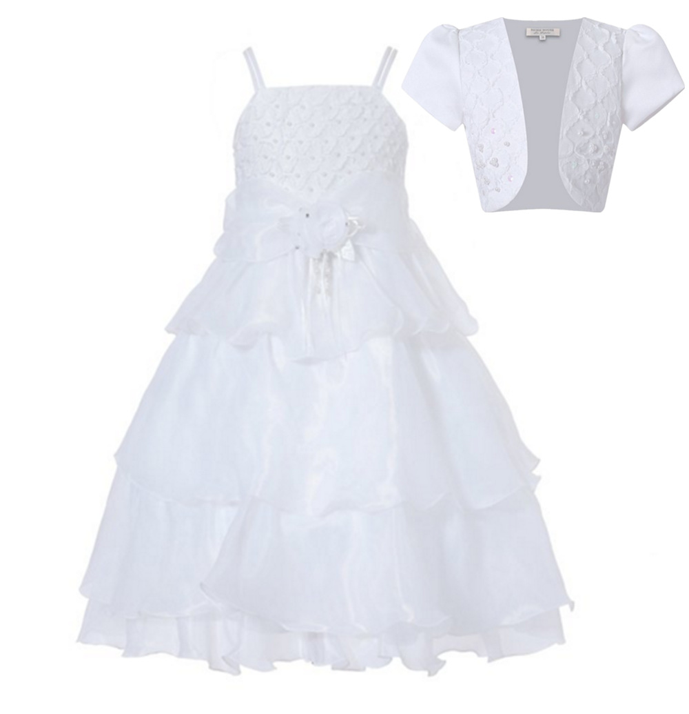 Kids Cape Short Prom Princess Party Dress Girls Clothes Christening Gown Children Wedding Dresses with White Lace Wedding Jacket 2017 girls princess dresses kids bridesmaids clothes long dress children red prom dress for party and wedding 4 5 6 7 8 9 10 yrs