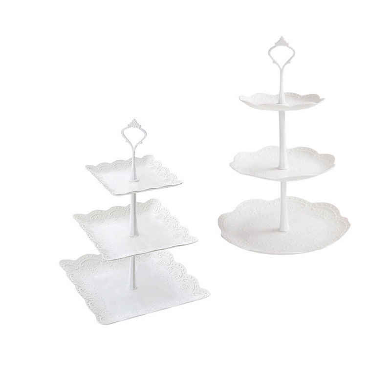Kualitas Tinggi 3 Tier Cake Stand Tray Dekorasi Bulat Cupcake Pernikahan Ulang Tahun Pesta Teh Sore Kue Stand