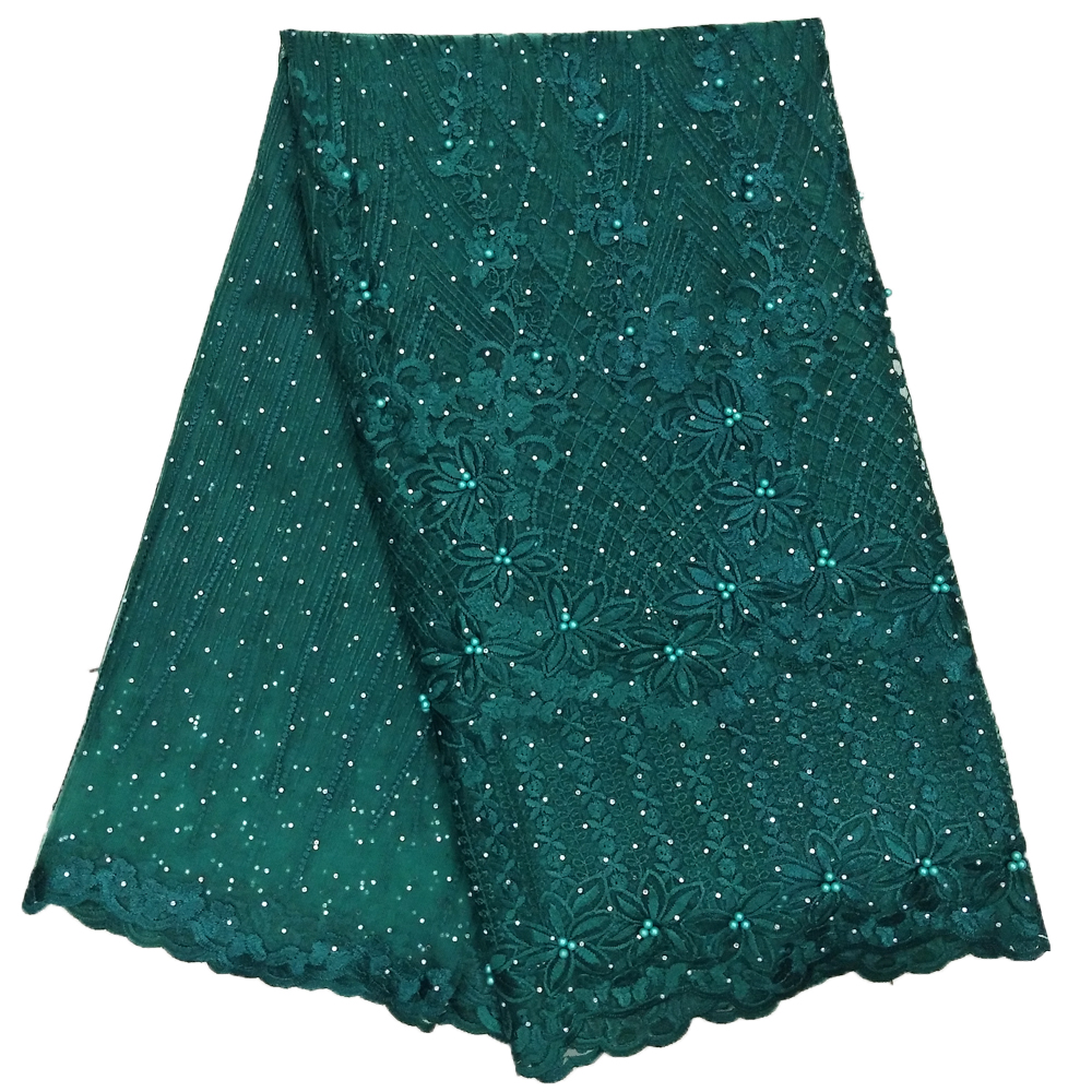 Beautiful Green color stone lace 3d african lace fabrics for women wedding lace dress in Lace from Home Garden