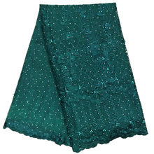 Beautiful Green color stone lace 3d african fabrics for women wedding dress