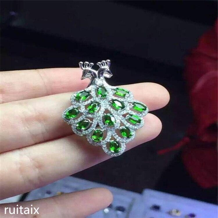 KJJEAXCMY boutique bijoux 925 pur argent naturel diophane diamant pendentif collier incrusté de phoenix micro-incrustation bijoux - 2