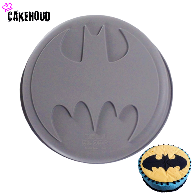 CAKEHOUD 1 St Food Siliconen DIY Batman Logo Film Thema De Avengers Super Hero Anti-aanbak Mould Bakken Cake Decorating Gereedschap