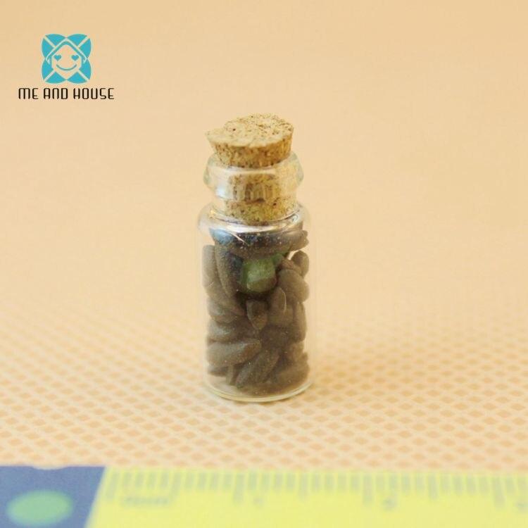 Dollshouse small kitchen 1:12 Doll House Miniature kitchen spice mini Jars set