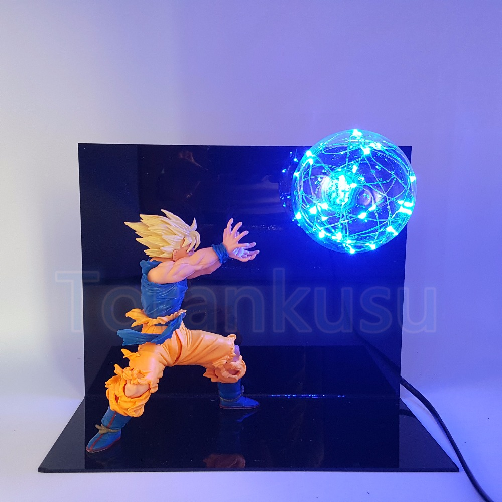 Dragon Ball Z Action Figure Son Gokou Kamehameha DIY Display Toy Dragonball Goku Super Saiyan Flash Ball Set Toy DIY99 genuine bandai exclusive tamashii nation 10th anniversary s h figuarts dragon ball z son gokou goku kaiohken ver action figure