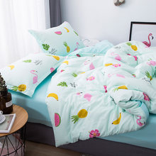 Bedding Set Nordic Bedspread Comforter Luxury Duvet Cover Double Sheets Twin Queen King Green Bed Linen Set49(China)