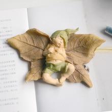 Милые листья Эльф Детские Мини полимерные фигурки миниатюрные домашний садик бонсай украшения