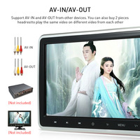 10.1 inch Digital Screen Touch Key Tablet Style Car Headrest DVD Player Plug and Play Rear Seat Entertainment