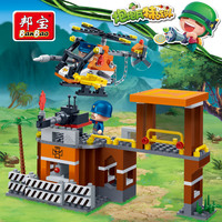 Banbao PowpowBing Forward guard station soldiers Building blocks for boy children Educational Toy Military vehicles model Bricks