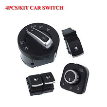free shipping  window switch mirror headlight for volkswagen vw passat b6 eos golf gti mk 5 6 4 pcs / kit