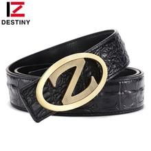 DESTINY Luxury Z Belt Men Famous Brand Designer Belts High Quality Male Genuine Leather Strap Copper Buckle Fashion Wide Cinto