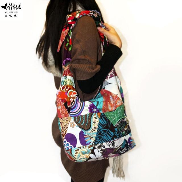 DIY Adjustable Strap Vintage Bohemian Hippie Crossbody Shoulder Bag Women  Canvas Cotton Lady Girl Female Bags free shipping 8054c4858a4d4