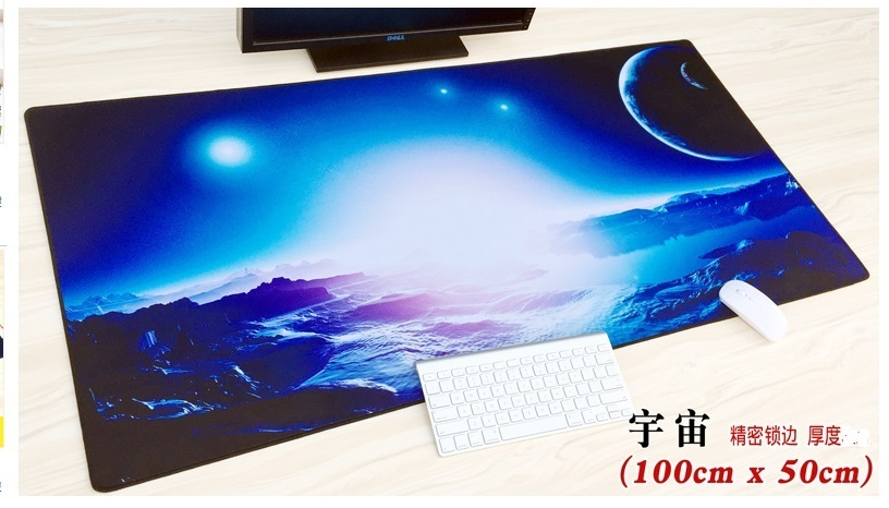 WESAPPA 100X50/90X40CM <font><b>XXL</b></font> <font><b>Large</b></font> locking edge Gaming <font><b>Mouse</b></font> <font><b>pad</b></font> speed Keyboard mousepad Desk Mat for game player image