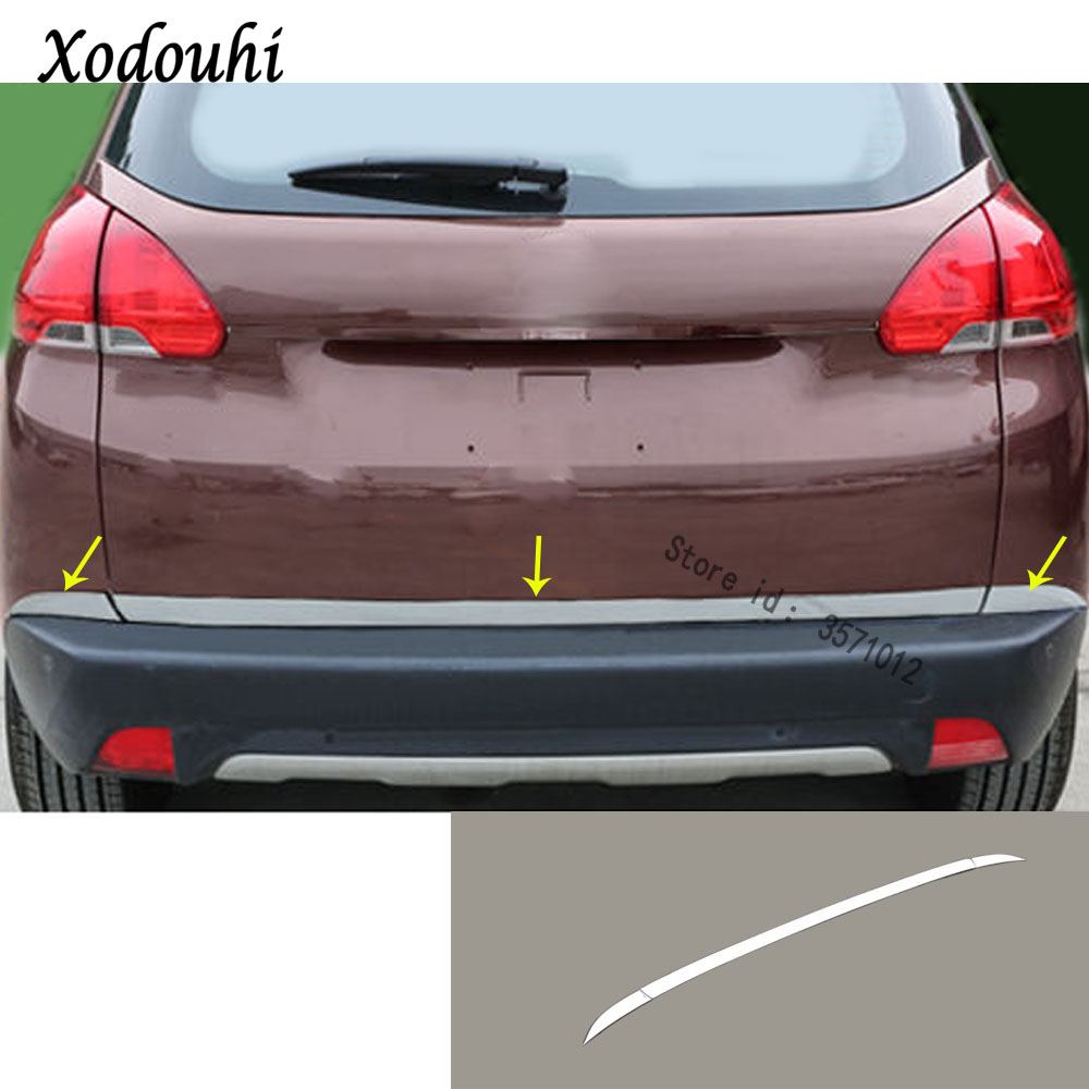 For Toyota Corolla 2014-2018 Stainless Steel Rear back door Tailgate trim