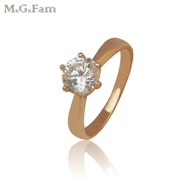 Mgfam Classic Style Women S Single Rings Zircon Stone For Engagement