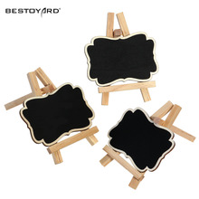 3pcs Framed Wooden Blackboard Chalk Board Wedding Party Table Number Tag Stands Table Number Holder Table Decoration