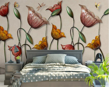 beibehang High-end modern classic indoor silk screen wallpaper 3D Lotus flower wall decorative painting papel de parede tapety