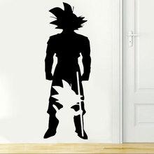 Dragon Ball Z Anime nhân vật Goku từ nhỏ đến lớn tường táo phòng ngủ Anime người hâm mộ trang trí vinyl dán tường LZ17