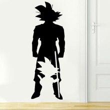 Dragon Ball Z anime charakter Goku von kleinen zu großen wand applique schlafzimmer Anime fans dekorative vinyl wand aufkleber LZ17